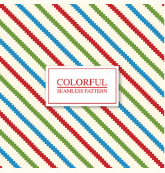 colorful seamless geometric pattern - striped vector image