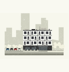 Condominium building vector