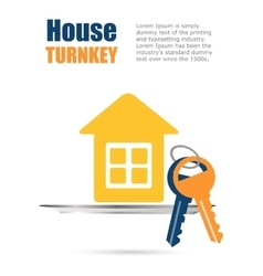Construction turnkey home vector