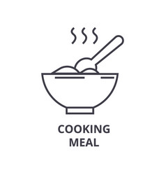 cooking meal line icon outline sign linear vector image