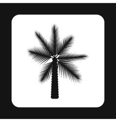 Date palm tree icon simple style vector