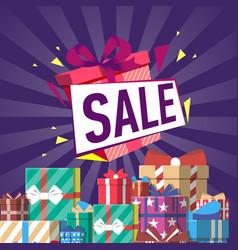 Discount gift sales vector