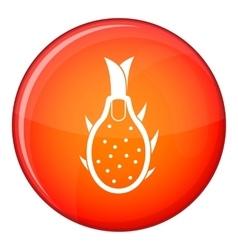 Dragon fruit icon flat style vector