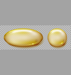 Fish oil capsule isolated on transparent vector