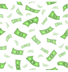 flat rain of dollars seamless pattern vector image