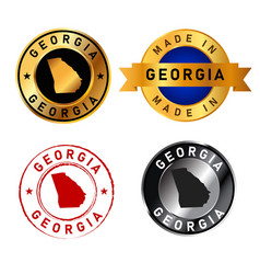 georgia badges gold stamp rubber band circle with vector image