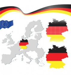 Germany and EU map vector