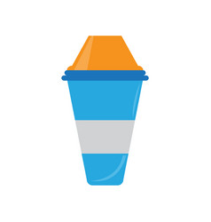 glass with lid vector image