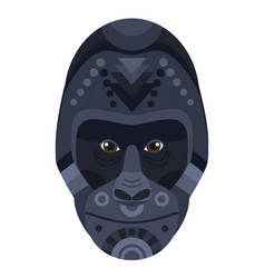 gorilla head logo decorative emblem vector image