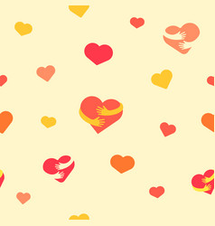 Hearts seamless pattern baby background with vector