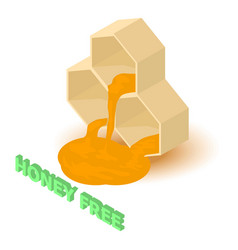 honey allergen free icon isometric style vector image