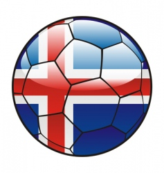 Iceland flag on soccer ball vector