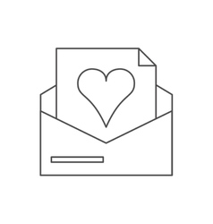 Isolated heart inside envelope design vector