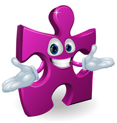 jigsaw character vector image