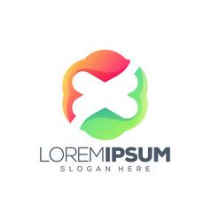 Letter x logo design vector