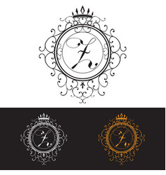 Letter Z Luxury Logo template flourishes vector image