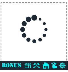 Loading icon flat vector