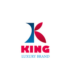 Logo of king luxury brand vector