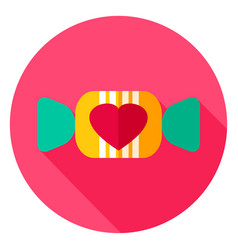 Lovely candy circle icon vector