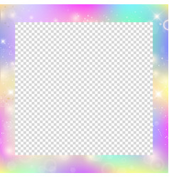 Magic frame with rainbow mesh and space for text vector