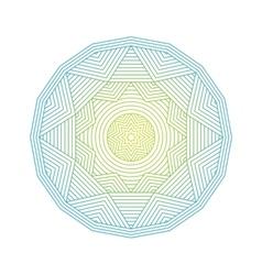 Mandala Color lineart geometric ornamental vector image