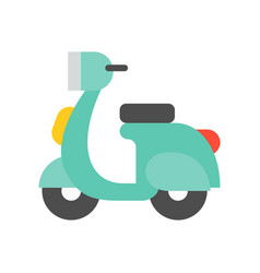 Motorbike simple icon flat design vector