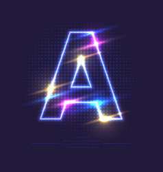 neon sign the letter a vector image
