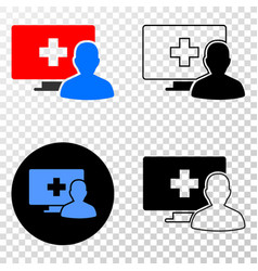 Online medical patient eps icon with vector