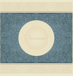 paisley invitation card vector image vector image