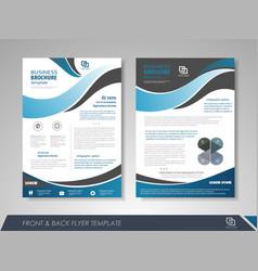 presentation flyer concept vector image