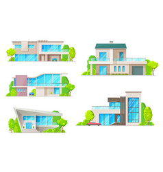 real estate house or home building isolated icons vector image