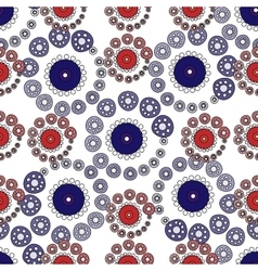 Red and blue circles abstract seamless pattern vector