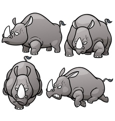 Rhinos vector