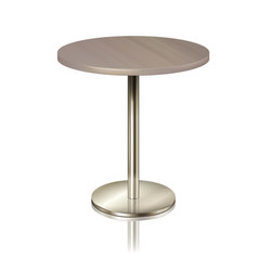 round table on a chrome metal stand without a vector image
