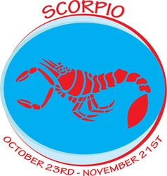 Scorpio Dates vector image