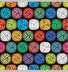 seamless abstract pattern colorful yarn balls vector image