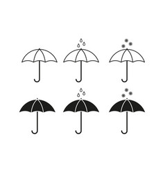 set of umbrella icons vector image