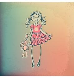 stylish fashion beauty girl vector image