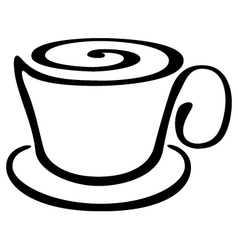 Stylized cup of coffee or tea vector