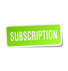 subscription square sticker on white vector image