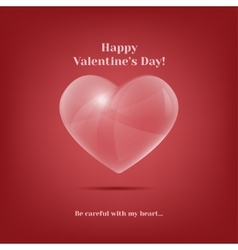 valentines day greeting card vintage vector image