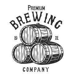 vintage monochrome brewing company logotype vector image