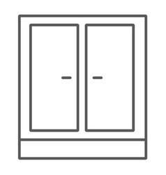 wardrobe thin line icon furniture and home vector image