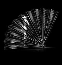 White lace fan vector