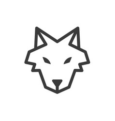 wolf icon images vector image