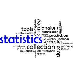 word cloud statistics vector image