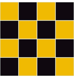 Yellow Black Chessboard Background vector image
