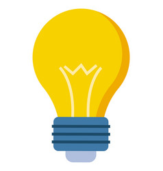 yellow glass bulb flat style closeup lamp vector image