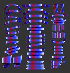 4th july ribbons vector image
