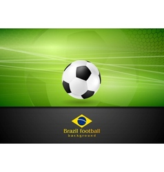 Abstract football background with soccer ball vector image vector image